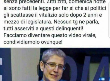 Scoperta choc di Paolo Giordano sui vitalizi